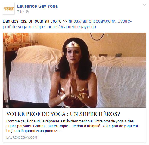 Facebook yoga en mouvement