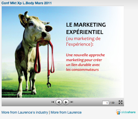 Slideshare : marketing expérientiel